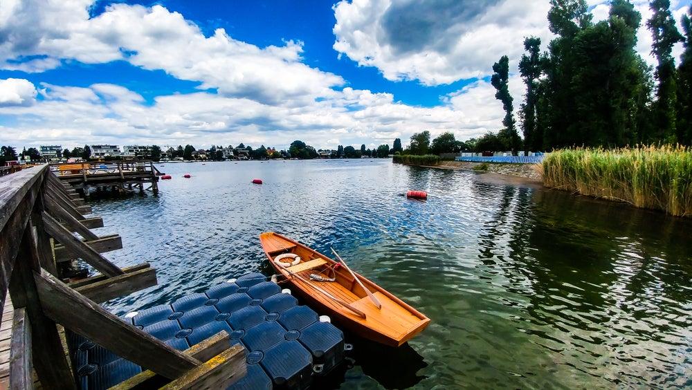 Barca a remi sull'Alte Donau Vienna