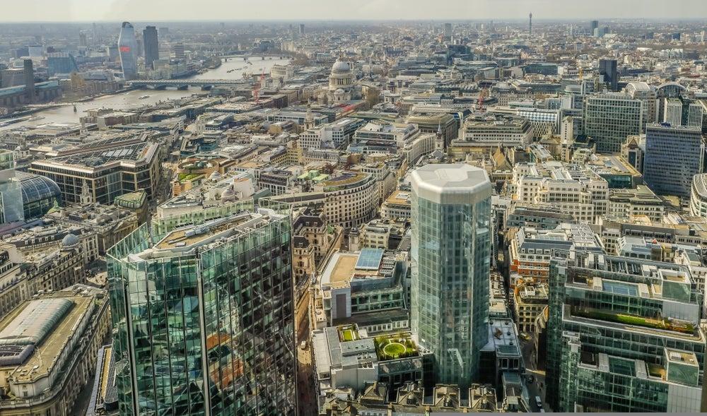 vista di Londra dal grattacielo Vertigo 42