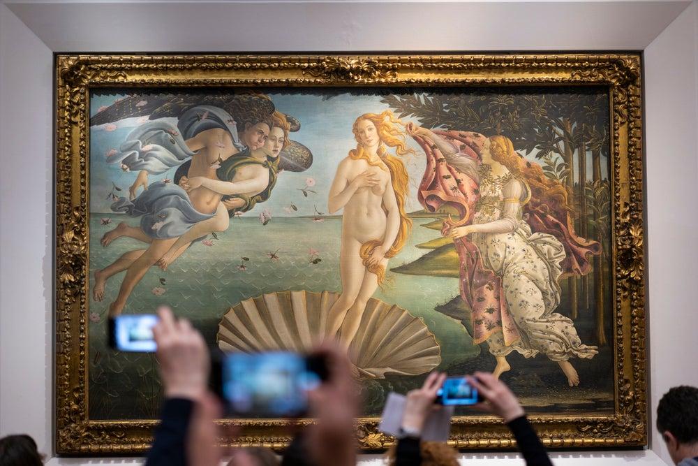 Venere di Botticelli Galleria degli Uffizi