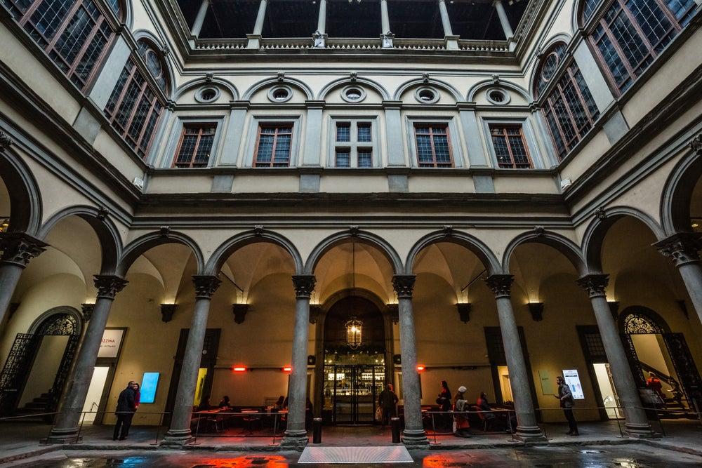 interno di Palazzo Strozzi Firenze