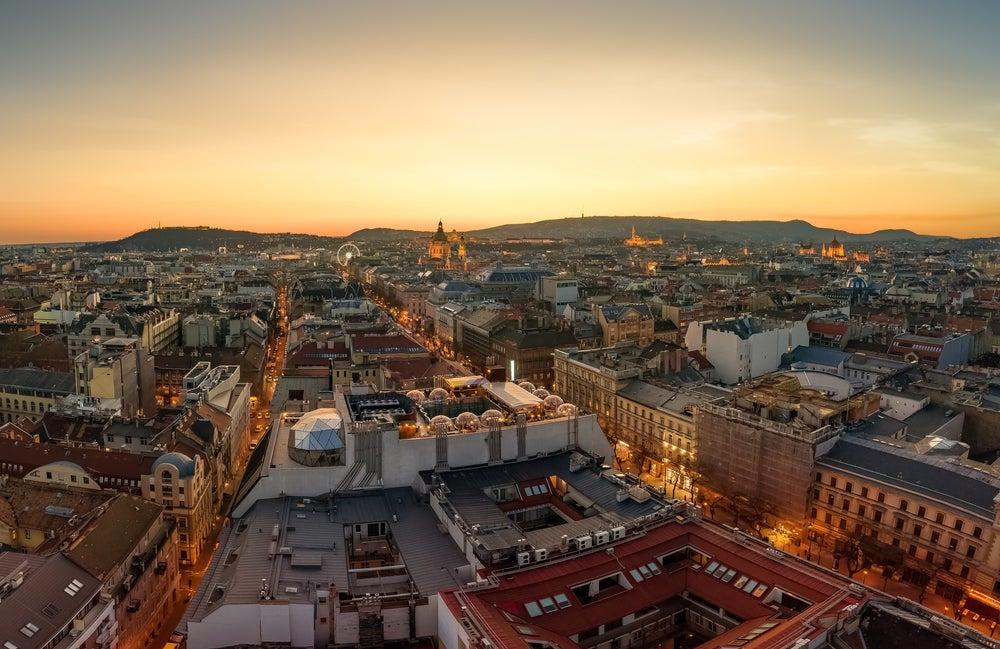 vista panoramica su Budapest