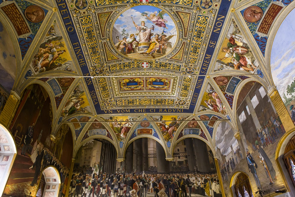 interno Palazzo Pubblico di Siena