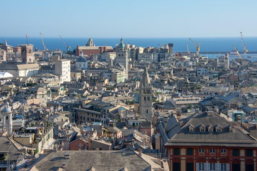 vista panoramica di Genova da Spianata Castelletto