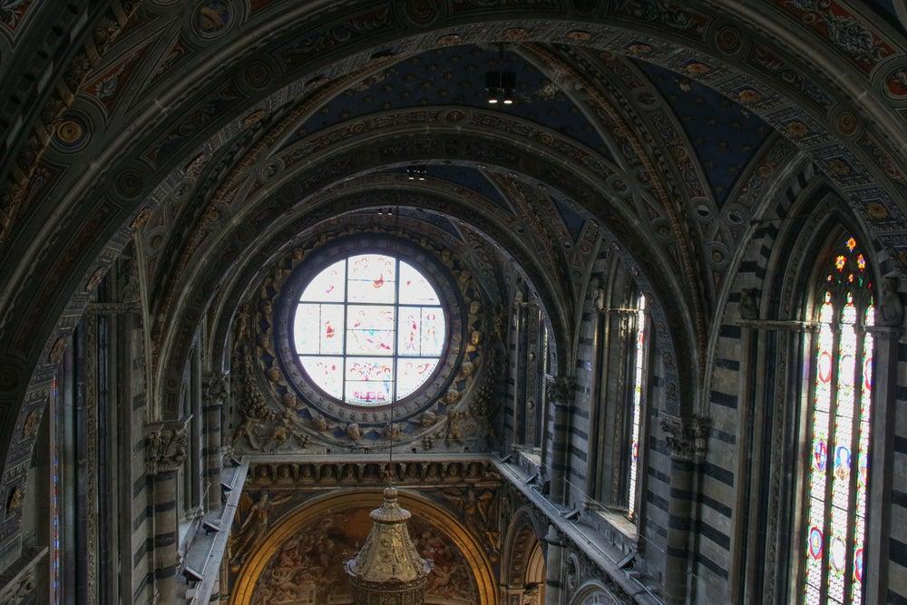 vetrata Duccio di Buoninsegna Duomo di Siena
