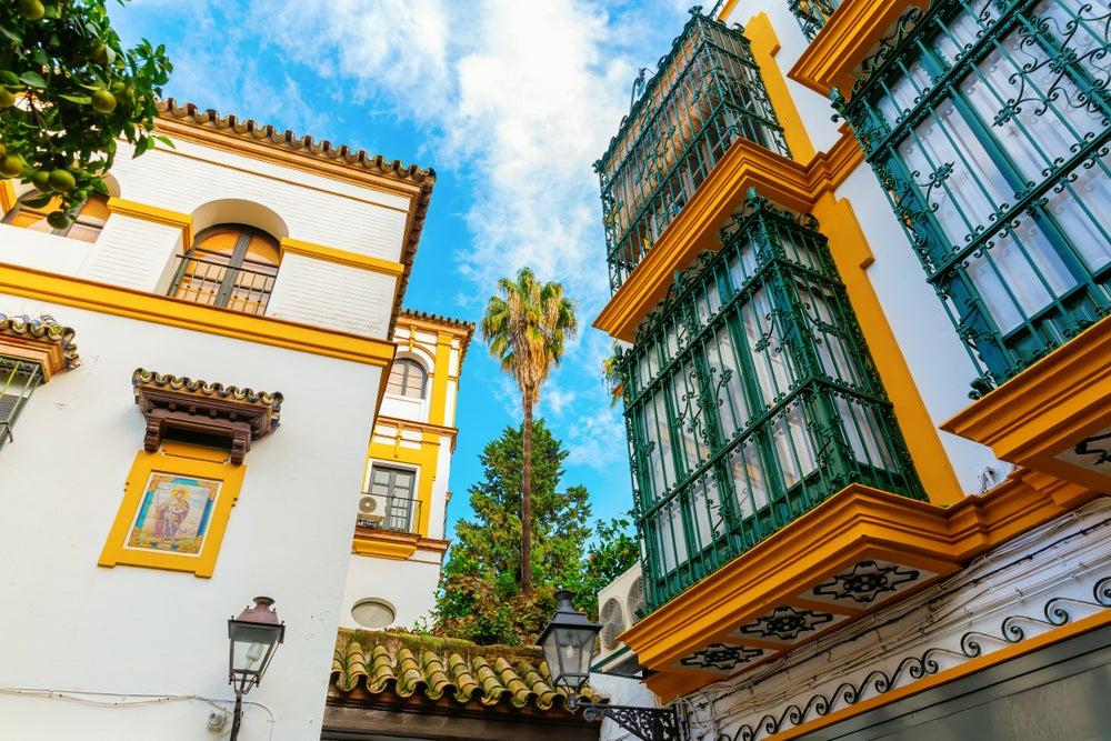 edifici storici quartiere di Santa Cruz Siviglia