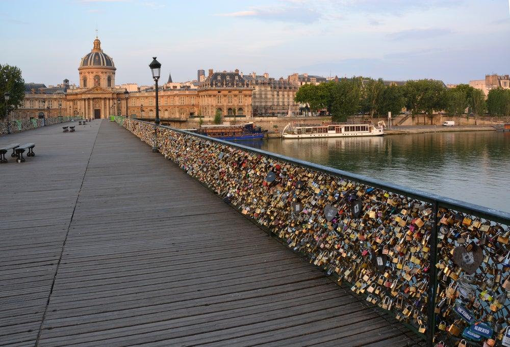 Pont des Arts o Ponte dell'amore parigino