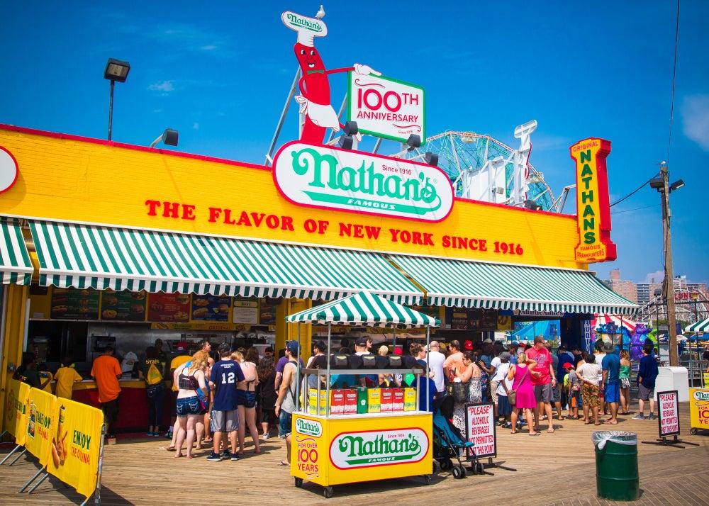 nathan's hot dog New York