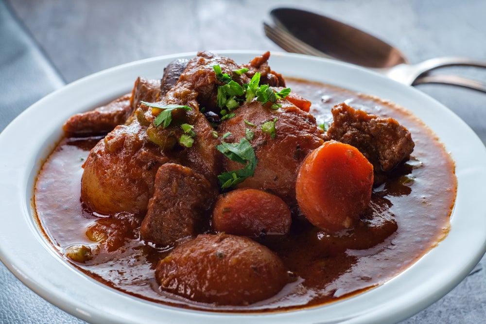 Irish stew, piatto tipico irlandese, stufato di carne.