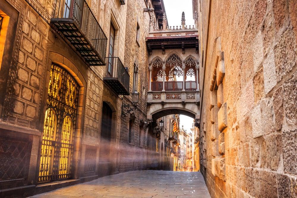 arco quartiere gotico Barcellona