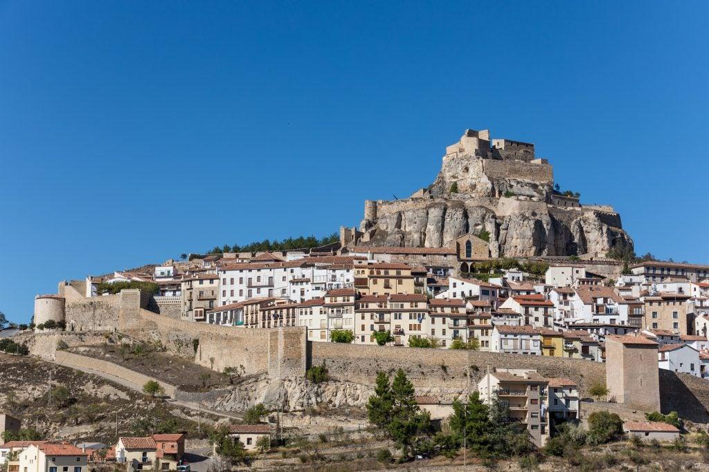 Castello di Morella vista delle mura di cinta