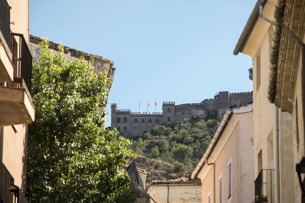Castello di Xàtiva vista dal borgo